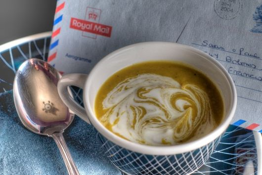 Cream of curried parsnip soup