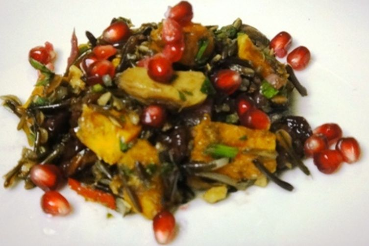 ... Salad with Roasted Butternut Squash, Roasted Chestnuts and Pomegranate
