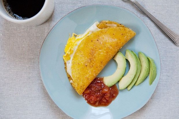 Breakfast quesadilla from Food52