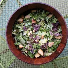 """Caesar-ish Salad with Celery Root """"Croutons"""""""