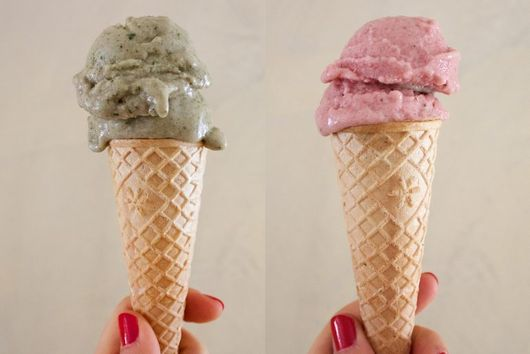 MINT AND STRAWBERRY BANANA ICECREAM