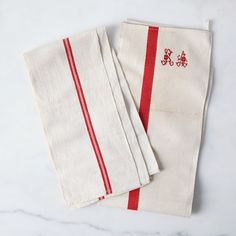 Vintage French Kitchen Towels (Set of 2)