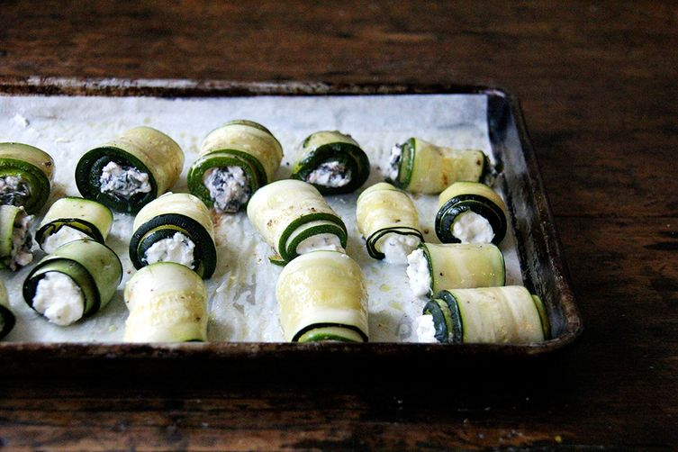 Zucchini Involtini with Swiss Chard & Ricotta