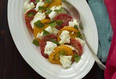 Tomato and Mozzarella Cheese Salad (insalata caprese) - Campania, Antipasto