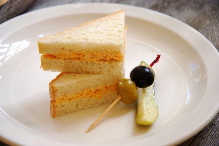 Pimento Cheese Sandwiches on White Bread