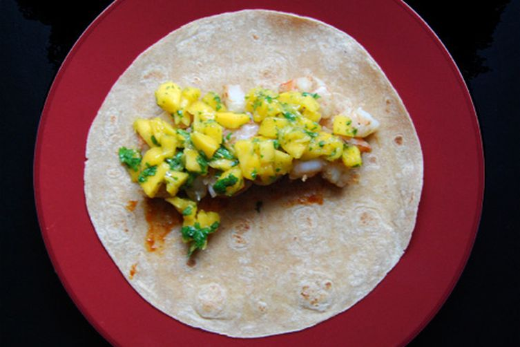 Grilled Mango and Shrimp Tacos