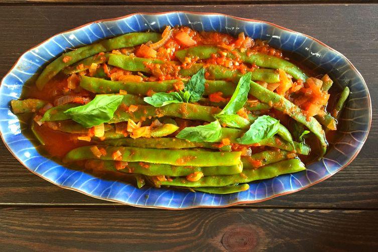 Green Beans Cooked Turkish Style (Zeytinyağlı Fasulye )
