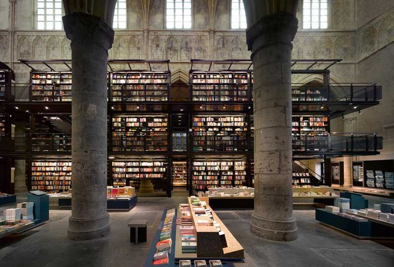 Bookstore Selexyz Dominicanen Maastricht in the Netherlands