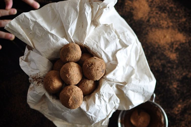 Dark Chocolate Truffles with Orange Liqueur