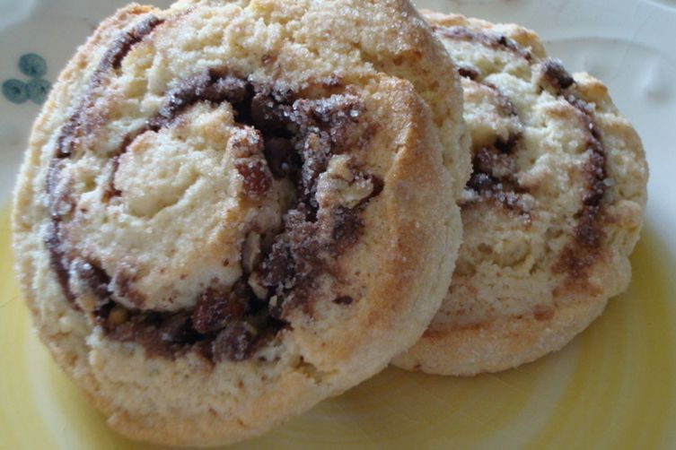 Nutella & Pecan Swirl Biscuit Buns