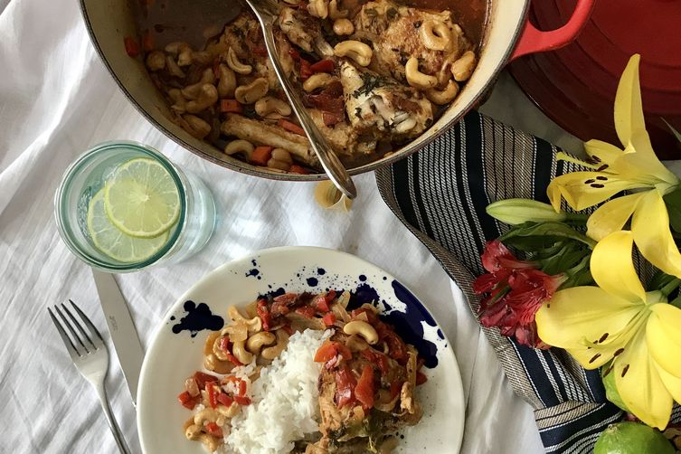 Nikki's Haitian Cashew Chicken