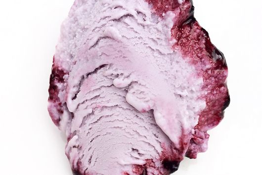 Wildberry lavender ice cream with wildberry ripple