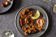 Fried Mushrooms with Smoked Paprika Remoulade