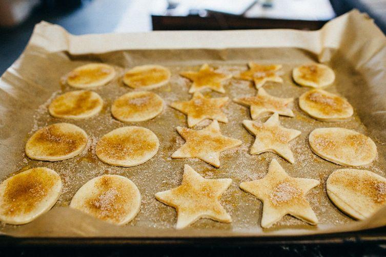 Pie Crust Cookies with sugar & cinnamon