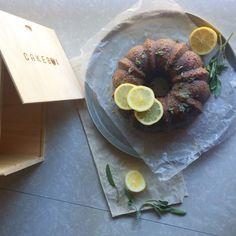 Honey Cake with Sage + Lemon Glaze