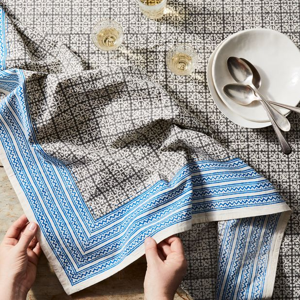 Handmade Block Print Patterned Cotton Tablecloth On Food52