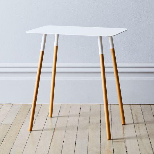 best service 91a67 b1195 Steel & Wood Rectangular Side Table