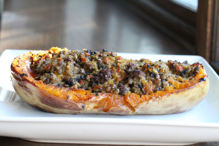Stuffed Butternut Squash with Boerewors