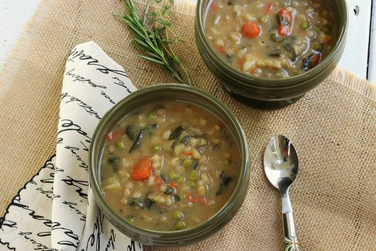 Heart Smart Bean and Barley Soup
