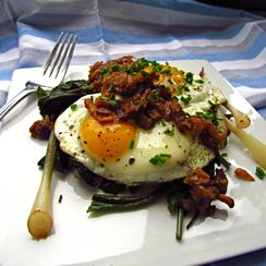 Eggs with Bacon Jam
