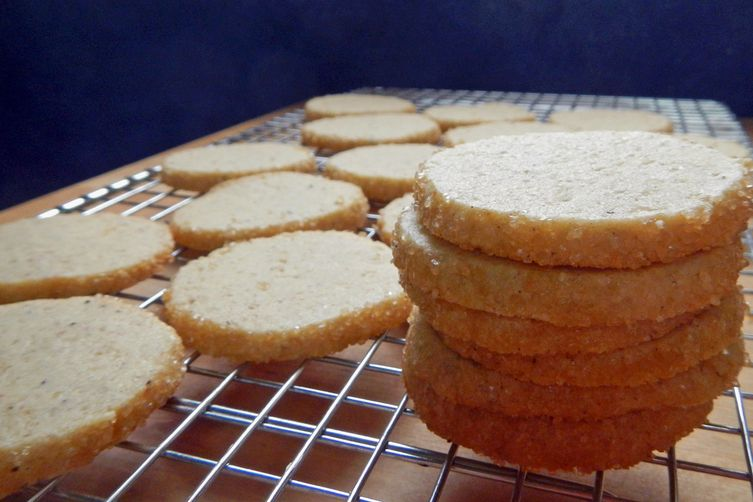 Vanilla Bean and Pink Peppercorn Icebox Cookies