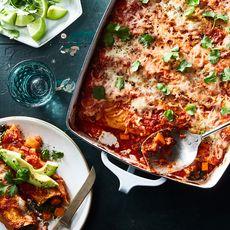 Roasted Yam & Collard Green Enchiladas
