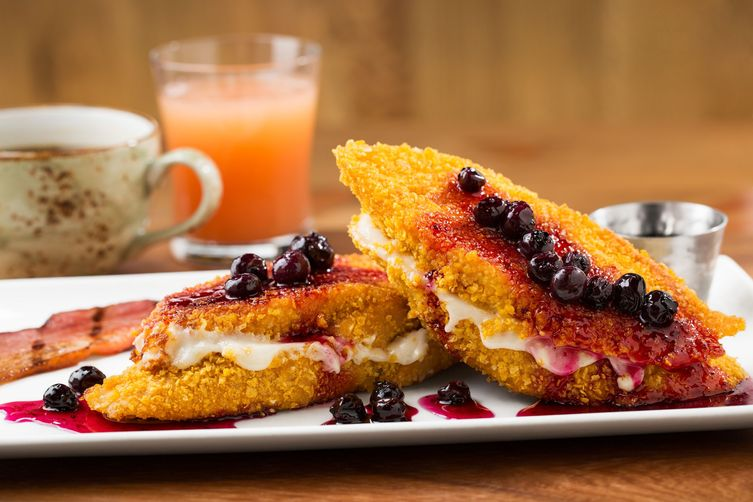 TR Fire Grill's Cream Cheese Stuffed French Toast