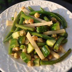 Crunchy Green Bean, Jicama and Wasabi Pea Salad