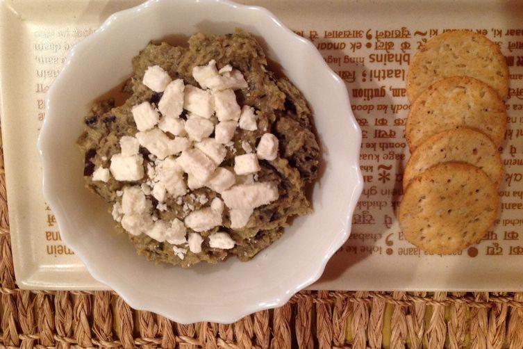 Roasted Veggie Dip Smothered in Feta