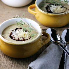 roasted parsnip, garlic + apple soup