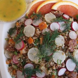 Buckwheat Tabbouleh with Roasted Young Turnips and Crunchy Radishes