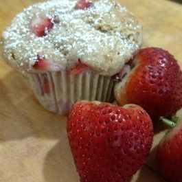 Fresh Strawberry Muffins with Chocolate Chips