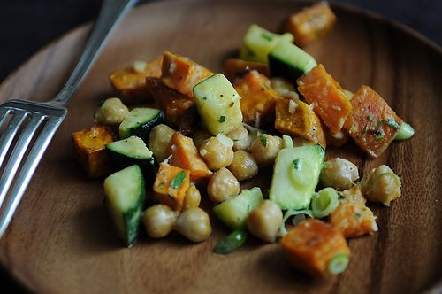 Yam, Zucchini and Chickpea Salad on Food52