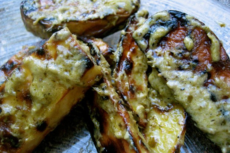 Grilled Pesto Potato Salad