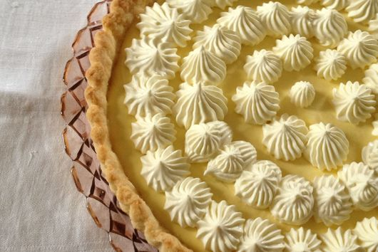 Mango Cream Tart With Mango Whipped Cream