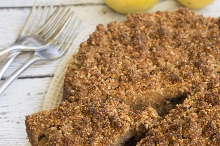 Gluten-Free Brown Butter & Pear Coffee Cake