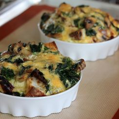Mushroom, gruyere and Spinach Quiche