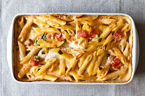 Al Forno's Penne with Tomato, Cream, and Five Cheeses
