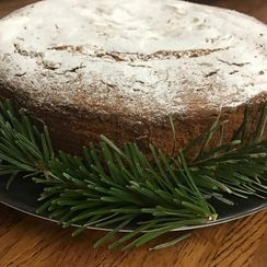 Vasilopita cake. Greek New Years cake.