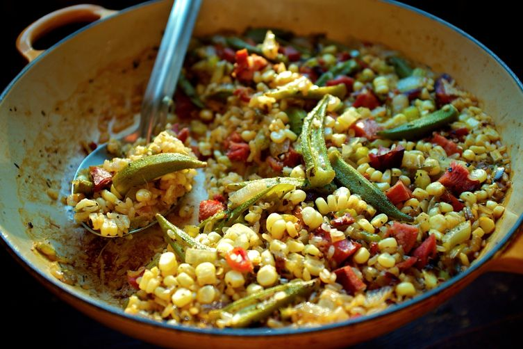Okra and Sweet Corn Purloo