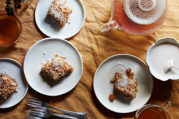 Sticky Rice Cake with Coconut, Ginger & Condensed Coconut Milk