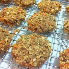 Olive oil red quinoa carrot cookies.
