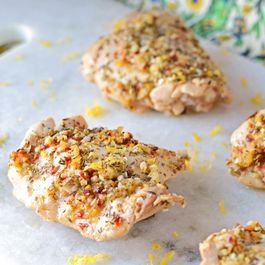 Lemon Herb Crusted Chicken Thighs