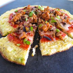 Cauliflower Scallion Crust Pizza