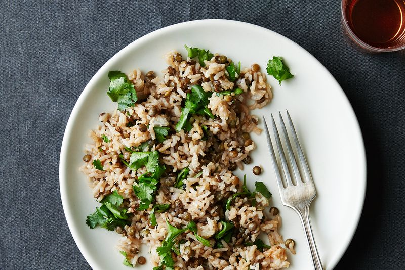 Lentil and Basmati Salad with Tamarind, Coconut, and Cilantro