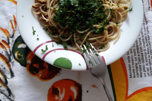 Pasta with bottarga