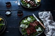 Steak with Arugula, Lemon and Parmesan
