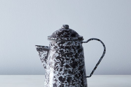 Grey Splatter Enamel Coffee Pot