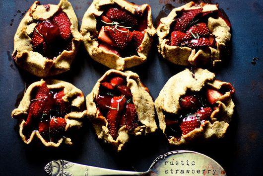 Rustic Strawberry Tarts with Balsamic vinegar