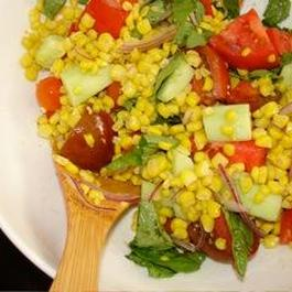 Tomato and corn summer salad